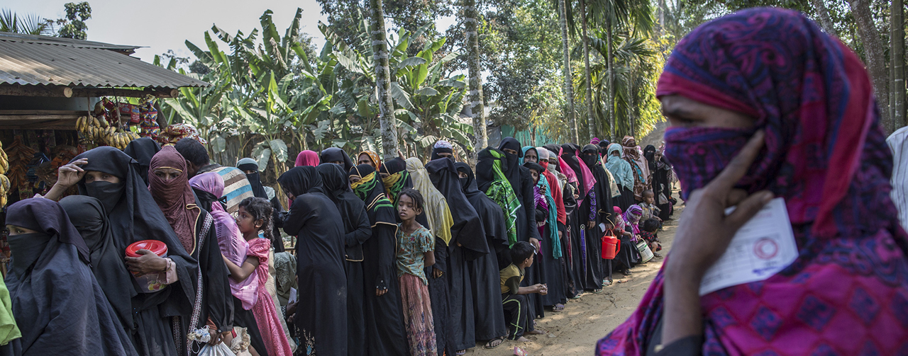 Rohingya refugees from Myanmar in Bangladesh. © 2017 Probal Rashid, Courtesy of Photoshare