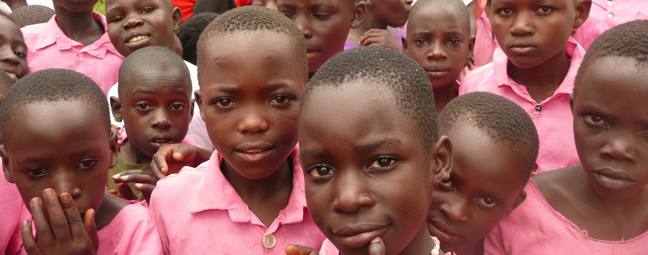 Children at a Ugandan school