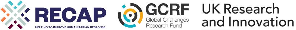 RECAP, GCRF and UKRI logos