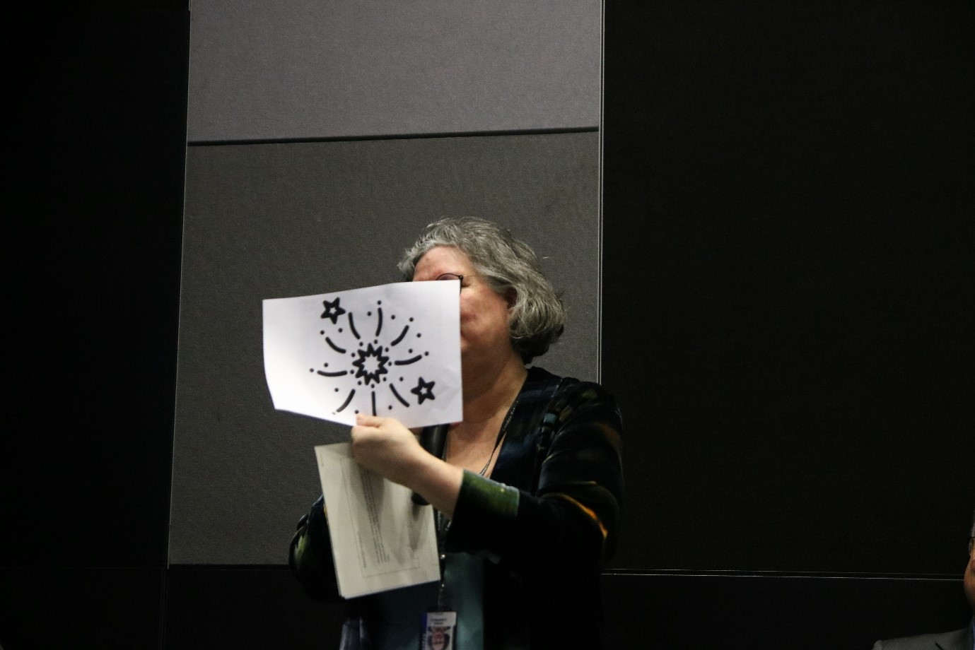 Professor Oona Campbell  used effective props during the Symposium debate