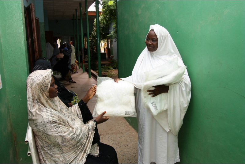 Distribution of insecticide treated mosquito nets to pregnant women through the UK Foreign Commonwealth & Development Office's Support to the National Malaria Programme in Nigeria. © Malaria Consortium