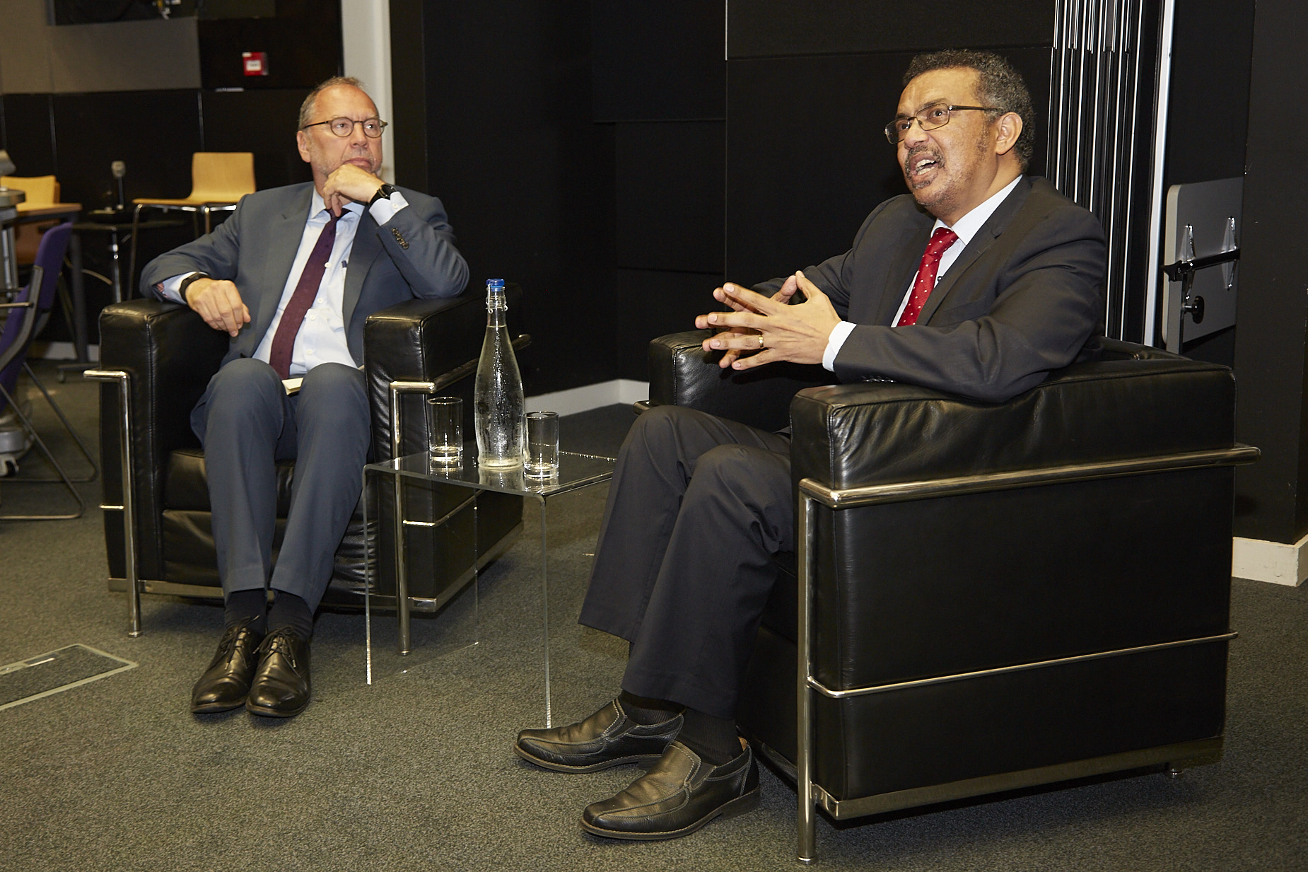 Professor Peter Piot and Dr Tedros