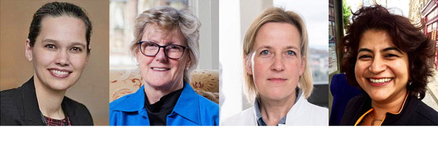 From left to right: Prof Veronika von Messling, Prof Dame Sally Davies, Prof Heike Brötz-Oesterhelt & Prof Jyoti Joshi