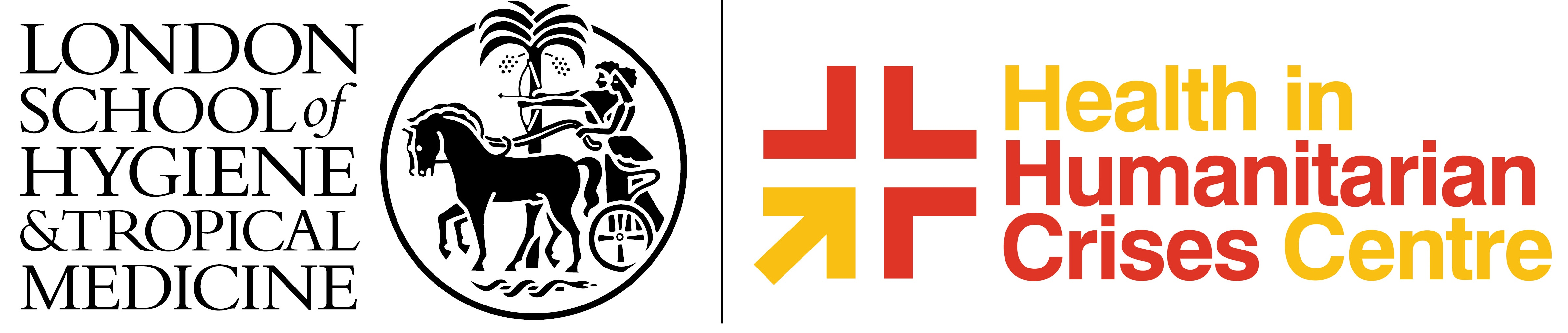 lshtm logo and crises centre logo lockup