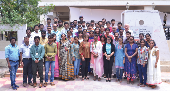 Participants who attended the PHPHI course at the South Asia Centre for Disability Inclusive Development and Research (SACDIR), Indian Institute of Public Health, Hyderabad, India in 2016.