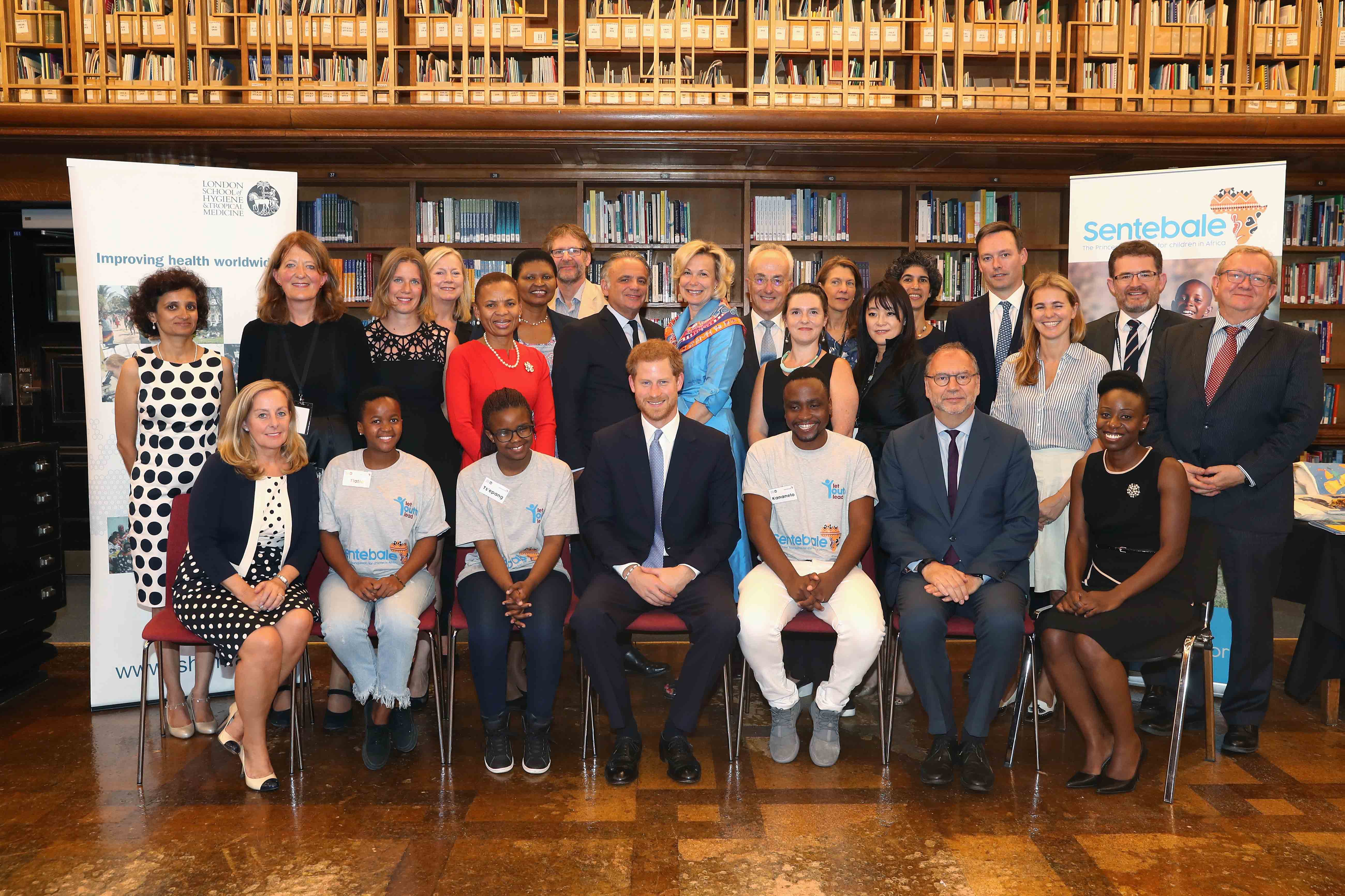 Roundtable attendees with Prince Harry at the London School of Hygiene & Tropical Medicine_Credit Getty Images for Sentebale