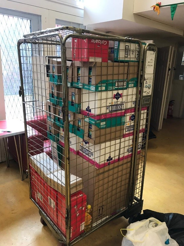 With the money raised from the bake sale, Little Village have bought toothpaste, sanitary towels, baby toiletries and cot sheets.