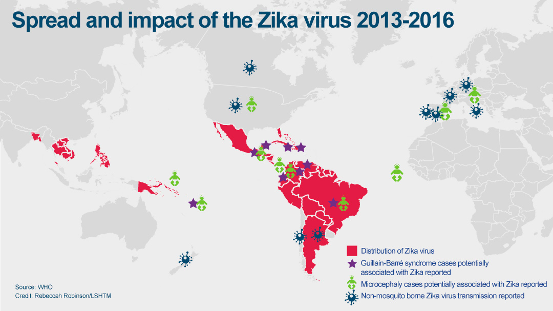 Spread and impact of Zika graphic