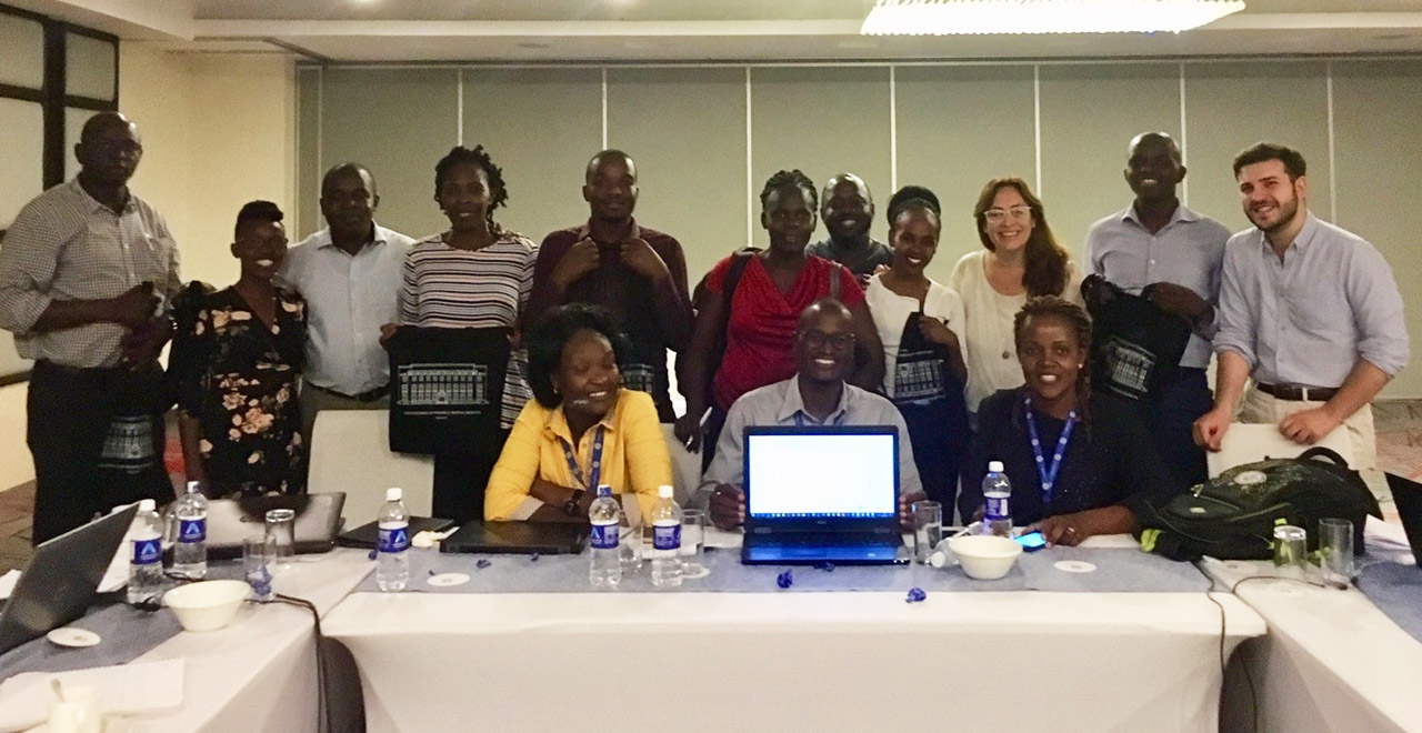 Attendees at the DREAMS IE data analysis workshop in Nairobi and Kisumu