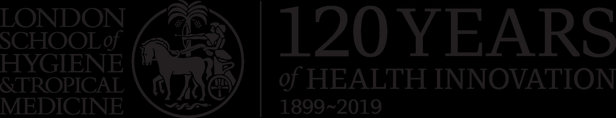 LSHTM 120 logo