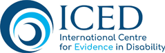 International Centre for Evidence in Disability logo