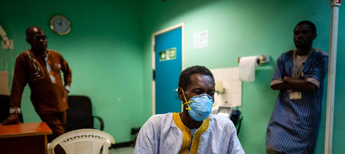Patient in TB clinic, MRC Gambia - October 2019