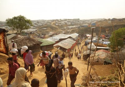Rohingya village