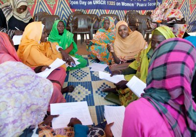 Image: UNAMID/North Darfur Committee on Women open day session in Darfur. Credit: UNAMID