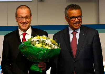 Dr Kluge with WHO Director-General Dr Tedros