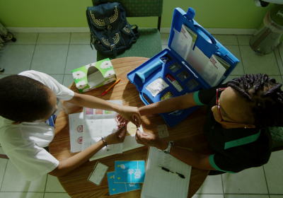 Caption: HIV test Credit: MTV Staying Alive Foundation
