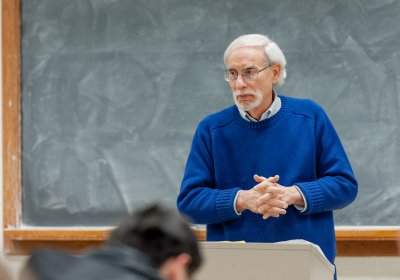 University of Rochester Professor of History Theodore M. Brown, teaching 'HIS 204: History of International and Global Health', in Gavett Hall, #312, on the University of Rochester's River Campus. Mr. Brown is a Professor of History; Professor of Medical Humanities; Charles E. & Dale L. Phelps Professor of Public Health and Policy