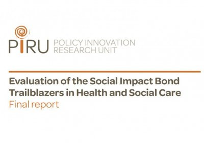 Evaluation of the Social Impact Bond Trailblazers in Health and Social Care banner. Credit: PIRU