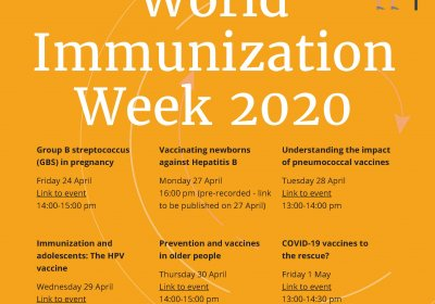 World Immunization Week 2020 poster