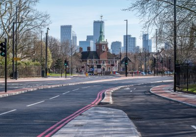 Caption: Empty London. Credit: LSHTM