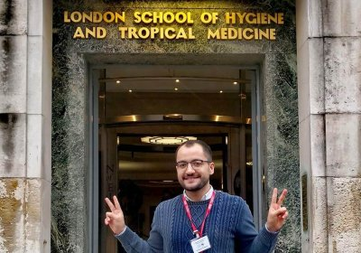 Vincenzo Cologna outside of LSHTM Keppel Street
