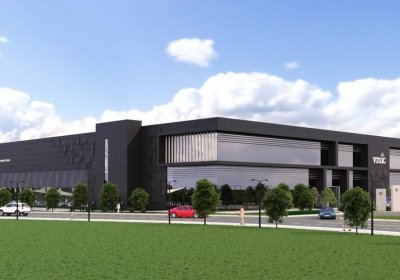 Artist's render of the Vaccines Manufacturing Innovation Centre