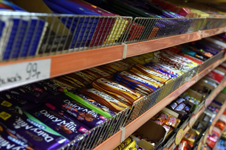 Chocolate bars at cornershop. Credit: Christian Sinibaldi