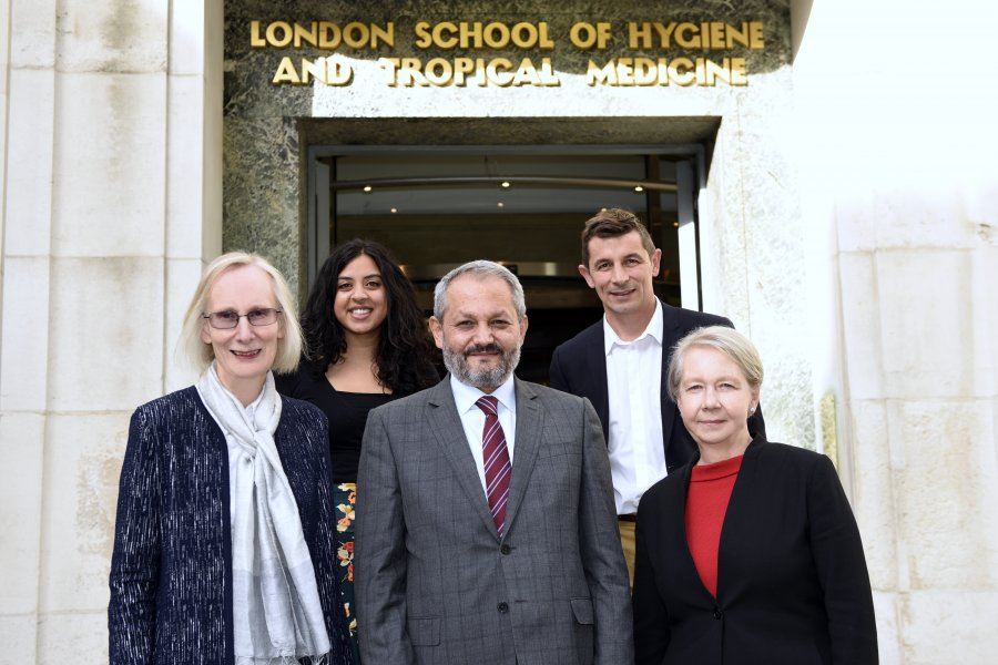 image of lshtm staff and minister of health afghanistan