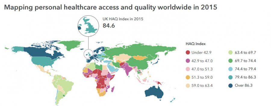 Image: Mapping personal healthcare access and quality worldwide in 2015