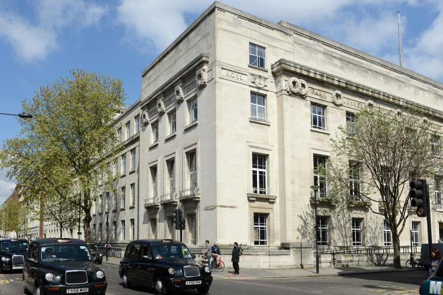 Image: The London School of Hygiene & Tropical Medicine from Gower Street. Credit: LSHTM