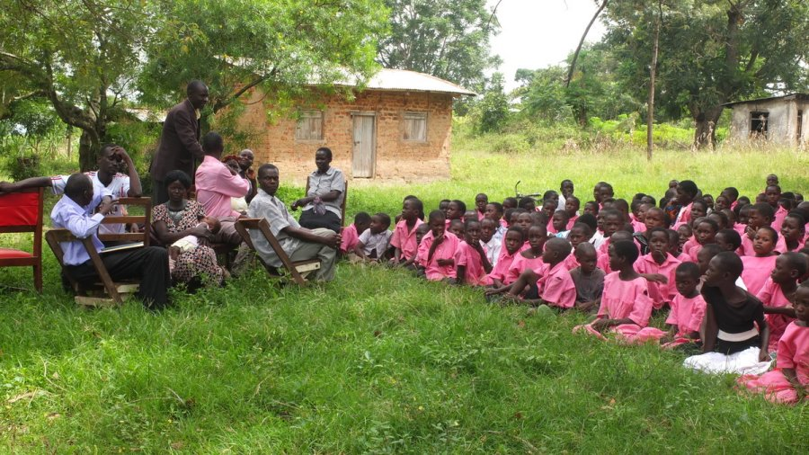 School-based malaria project for Malaria Capacity Development Consortium, taken near Tororo, Uganda. Uganda is one of the 10 countries in Africa with the highest burden of malaria.