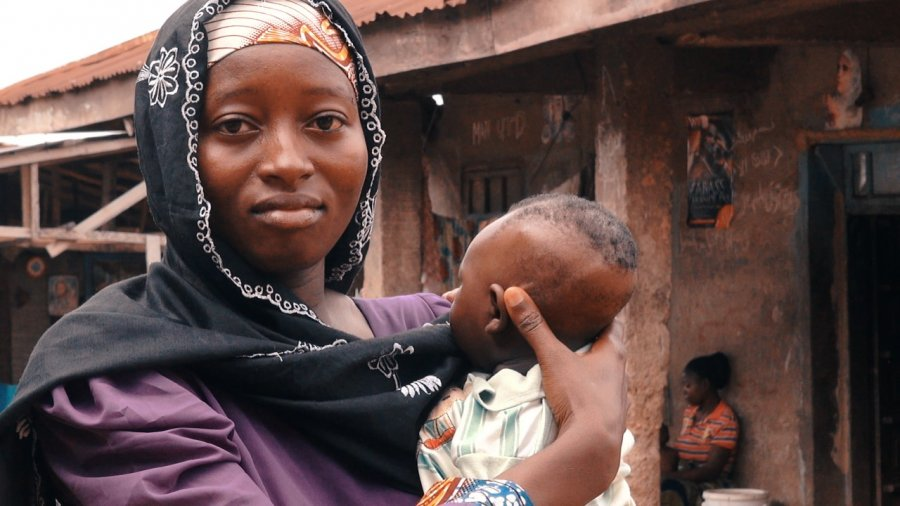 Woman and her baby in Nigeria.