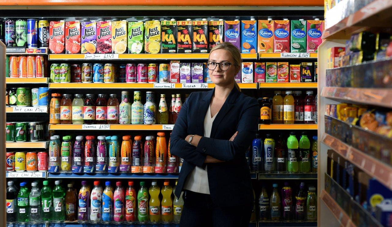 Dr Laura Cornelsen conducts research on food choices and sugar tax at LSHTM. Image credit: Christian Sinibaldi