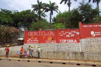 Ebola sign in Sierra Leone