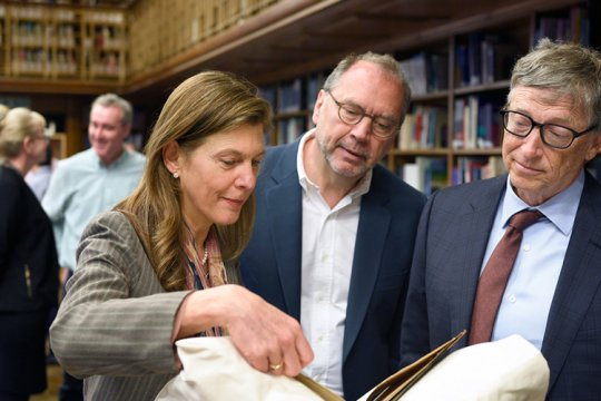 Heidi Larson and Peter Piot meeting with Bill Gates