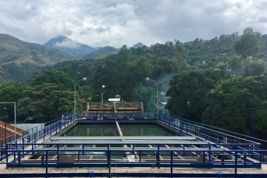 Retrofitted water treatment plant in Uvira, DRC