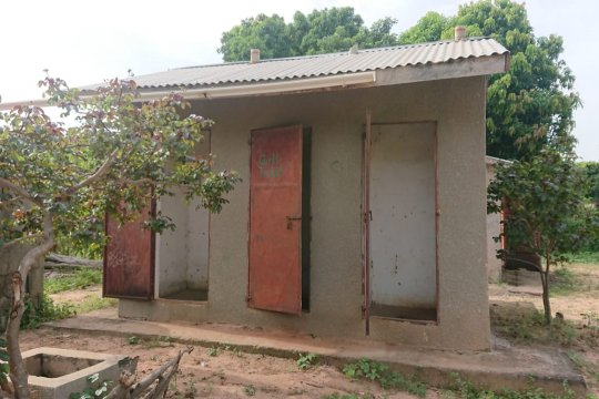 Toilet block in a school participating in the MEGAMBO study