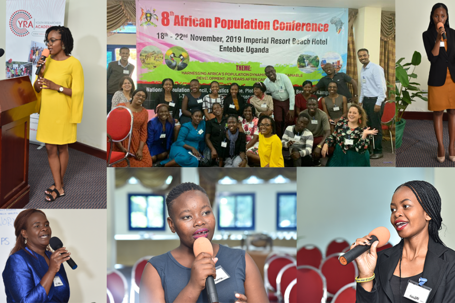 Photos of speakers at 8th African Population Conference