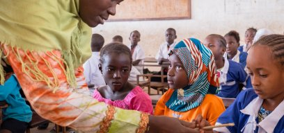 Health education class in The Gambia