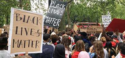 The Black Lives Matter peaceful protest in Hyde Park. Credit: Katie Crampton (WMUK).