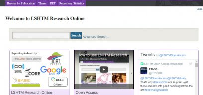 Research Online homepage