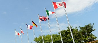 Flags of G7 nations