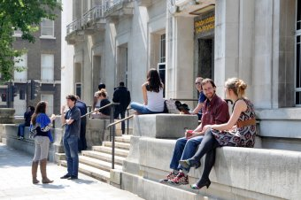 Students outside LSHTM