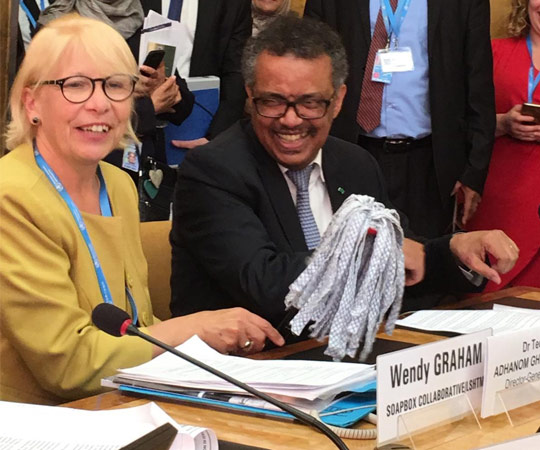 Prof Wendy Graham and Dr Tedros Adhanom